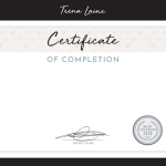 Certificate Certificate of Completion APMA