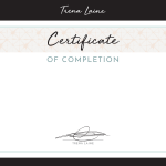 Certificate Certificate of Course Completion